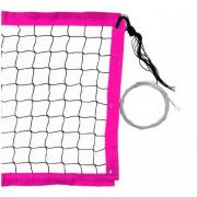 Сетка для пляжного волейбола 3 мм (розовая)